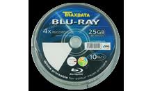 TRAXDATA BD-R 25GB 4X Cake 10 KOM (White Printable)