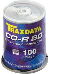 TRAXDATA CD-R 700MB/80 MIN.  52X Cake 100 KOM