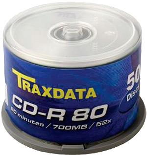 TRAXDATA CD-R 700MB/80 MIN. 52X Cake 50 KOM