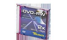TRAXDATA DVD-RW 1,46GB/30 MIN 4X 8cm COLOUR Slim Box 3 KOM