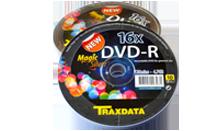 TRAXDATA DVD-R 16X 4,7GB Spindle 10 kom MAGIC SILVER