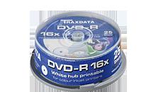 TRAXDATA DVD-R 4.7GB/120 MIN 16X Cake 25 KOM (White Printable)