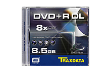 TRAXDATA DVD+R 8,5GB/240 MIN 8X Dual Layer Box 1 KOM