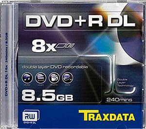 TRAXDATA DVD+R 8,5GB/240 MIN 8X Dual Layer Box 1 KOM